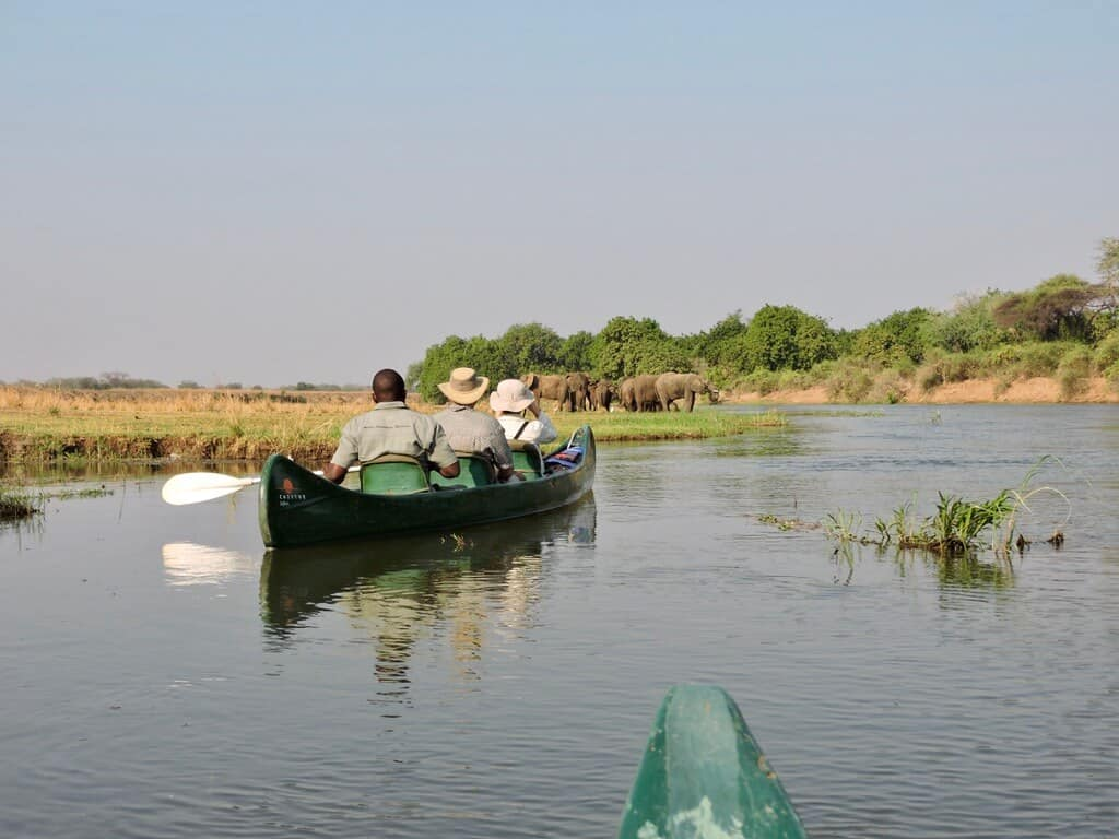 canoeing with elephants zambia