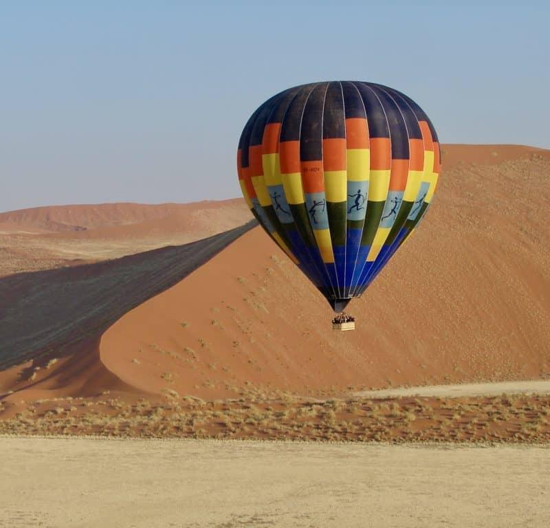 Namibia balloon flight